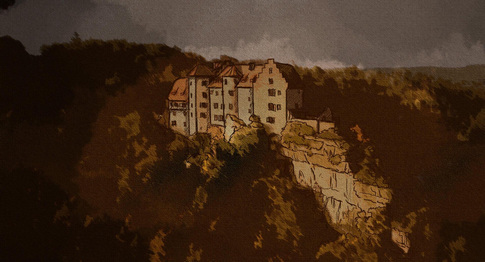 Burg Rabenstein Ölgemälde