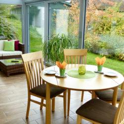 Ferienwohnung Familie Zutt Balkon Tisch