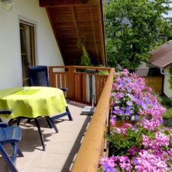 Ferienwohnung Familie Zutt Balkon