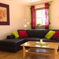 Ferienwohnung Familie Zutt Balkon Couch